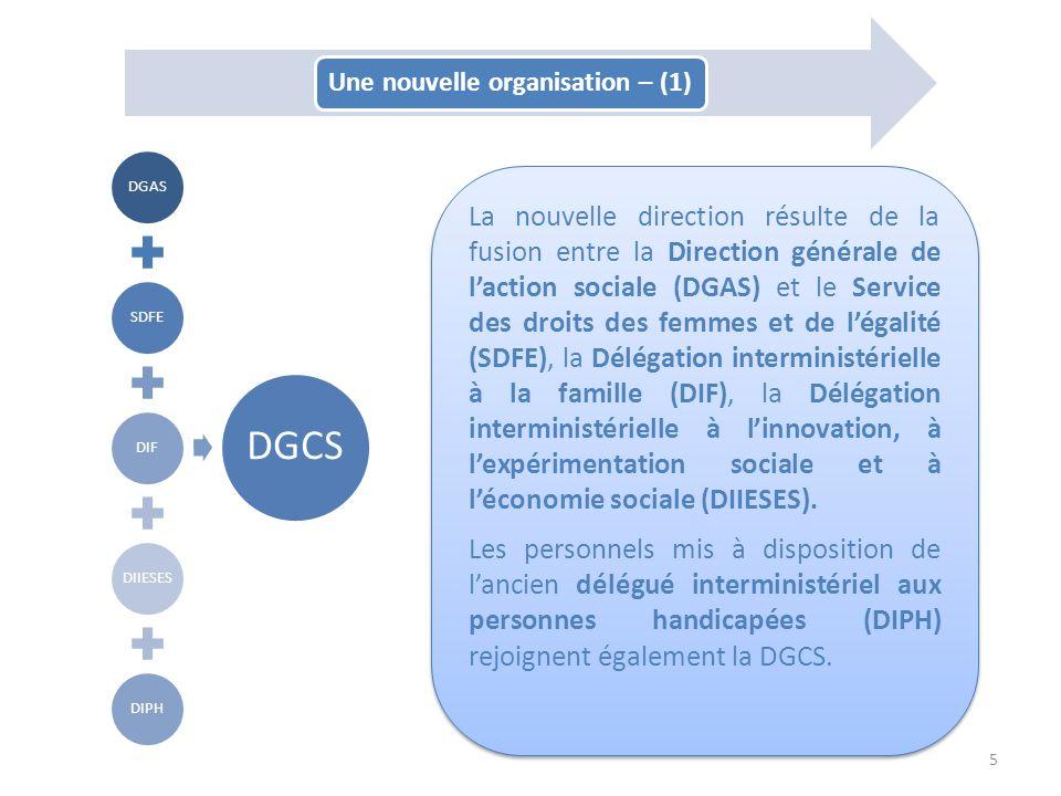 Une nouvelle organisation – (1)