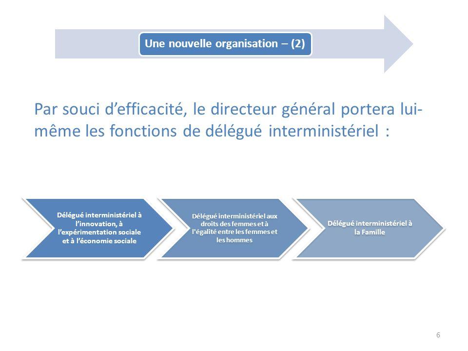 Une nouvelle organisation – (2) Délégué interministériel à la Famille