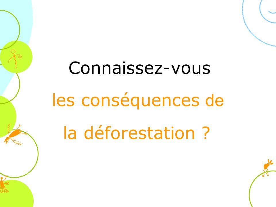 Connaissez-vous les conséquences de la déforestation