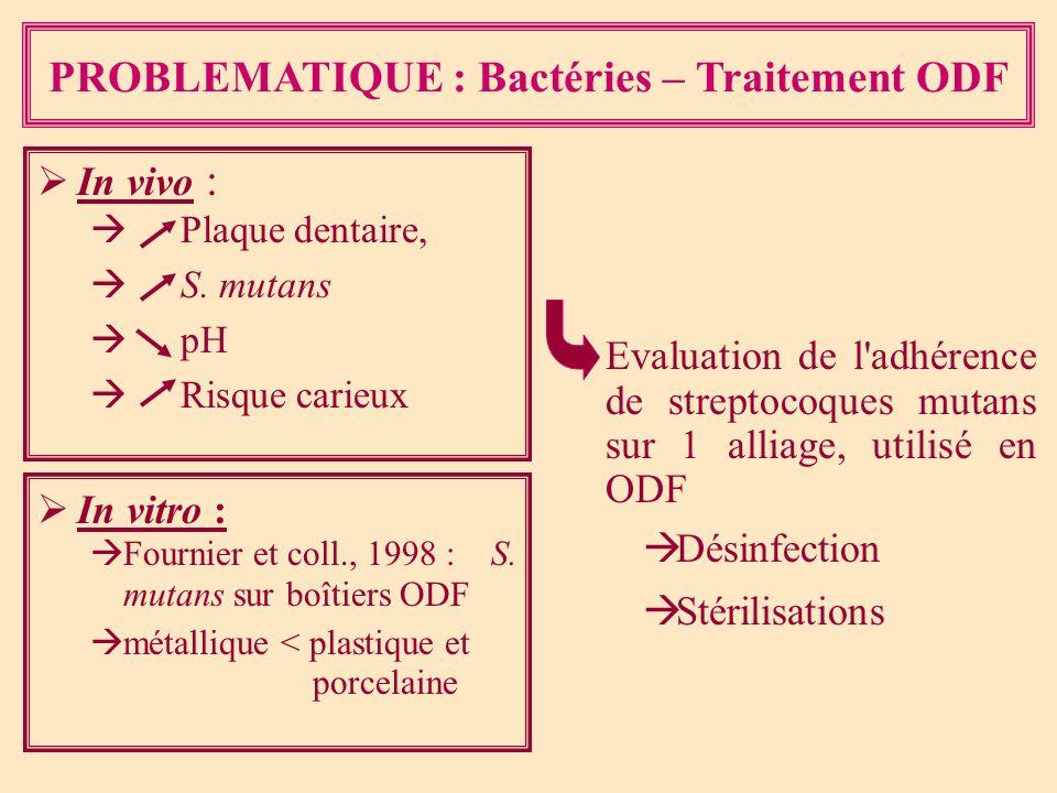 PROBLEMATIQUE : Bactéries – Traitement ODF