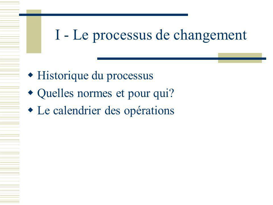 I - Le processus de changement