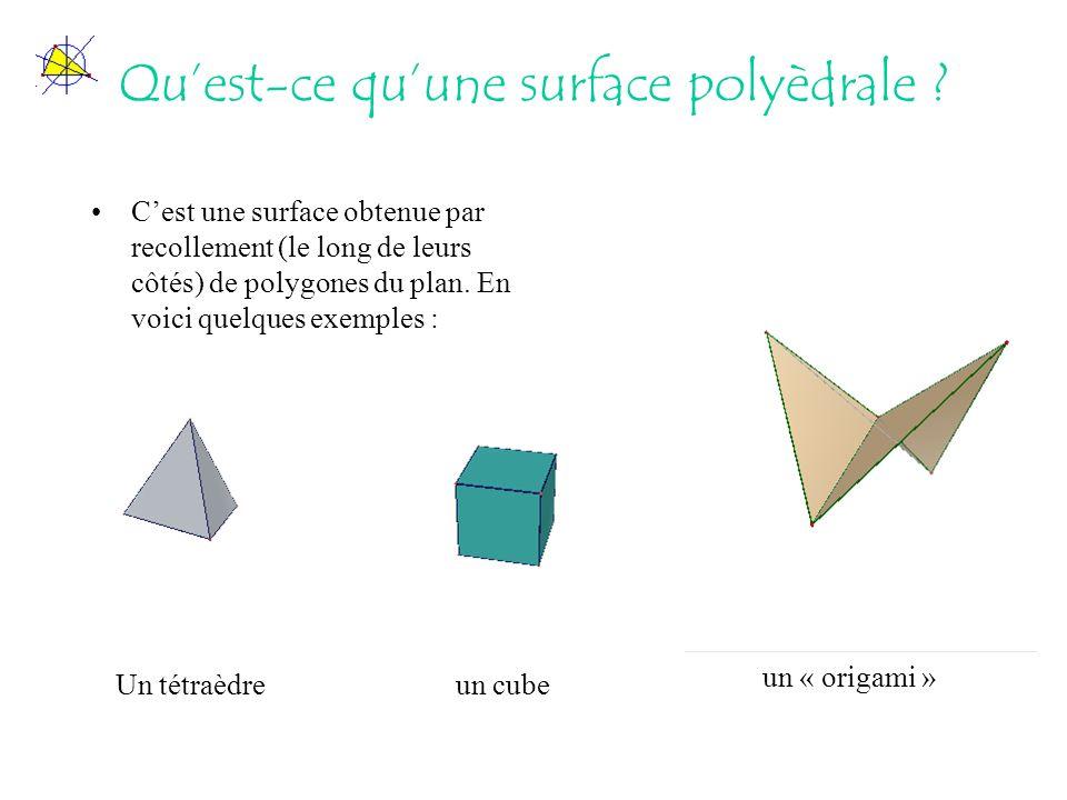 Qu'est-ce qu'une surface polyèdrale