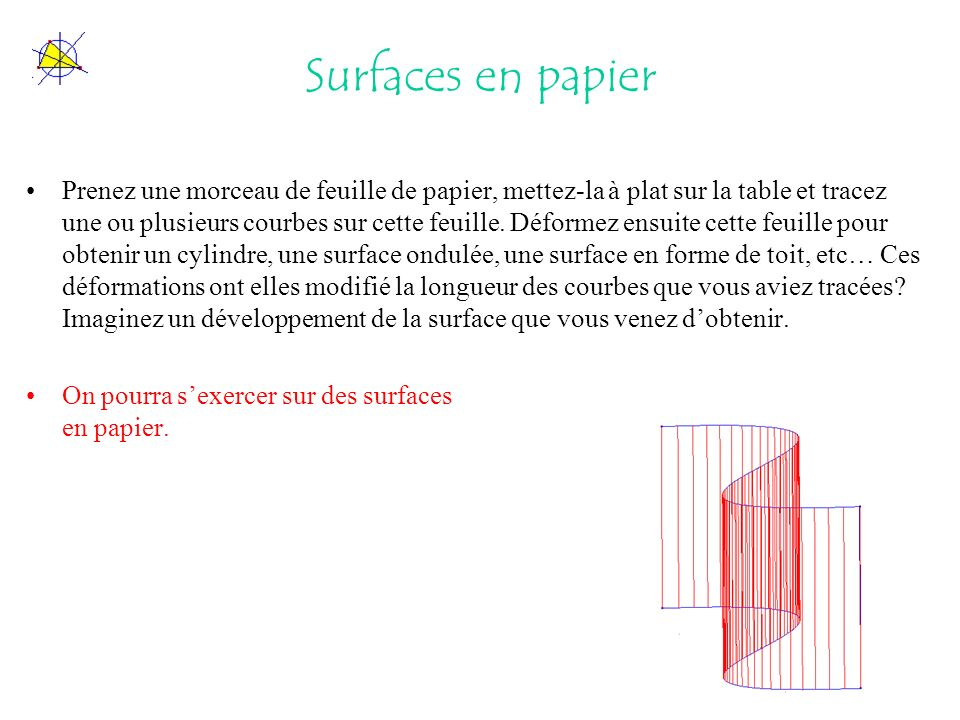 Surfaces en papier