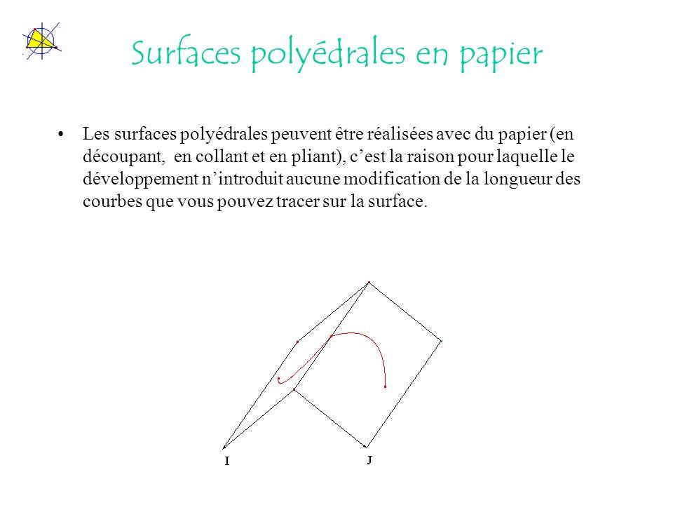 Surfaces polyédrales en papier