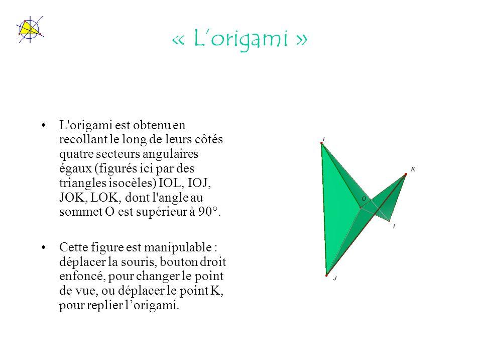 « L'origami »
