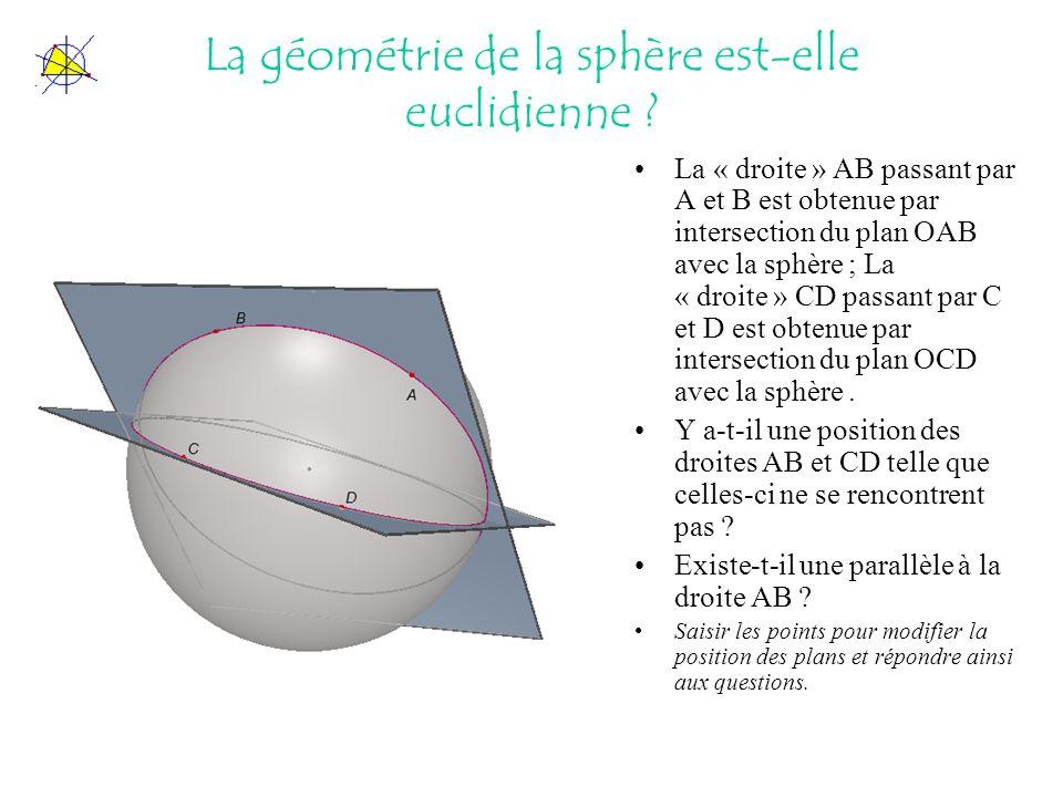 La géométrie de la sphère est-elle euclidienne
