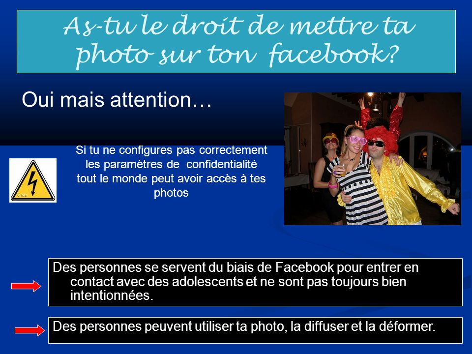 As-tu le droit de mettre ta photo sur ton facebook
