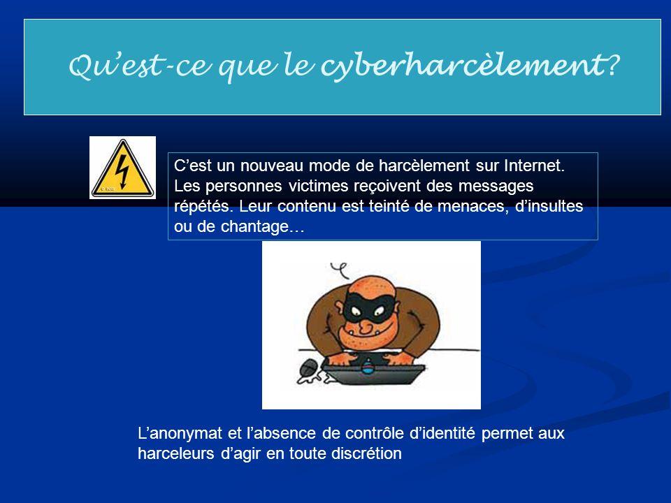 Qu'est-ce que le cyberharcèlement