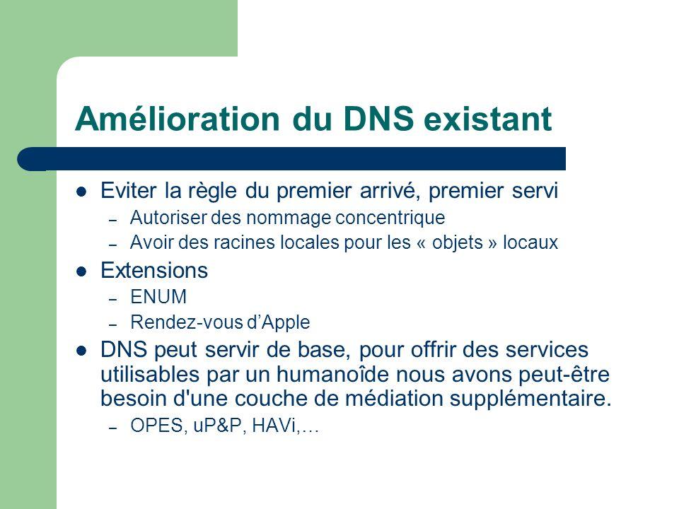 Amélioration du DNS existant