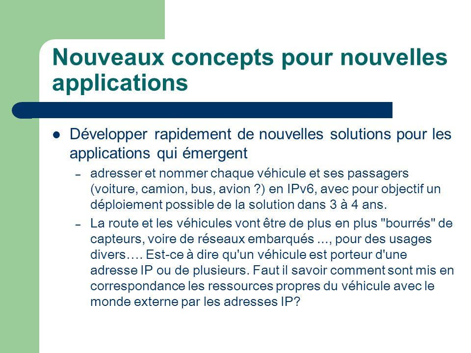 Nouveaux concepts pour nouvelles applications