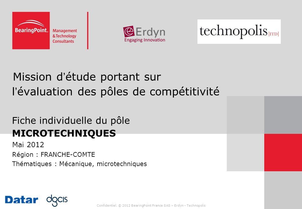 Mission d'étude portant sur l'évaluation des pôles de compétitivité Fiche individuelle du pôle MICROTECHNIQUES