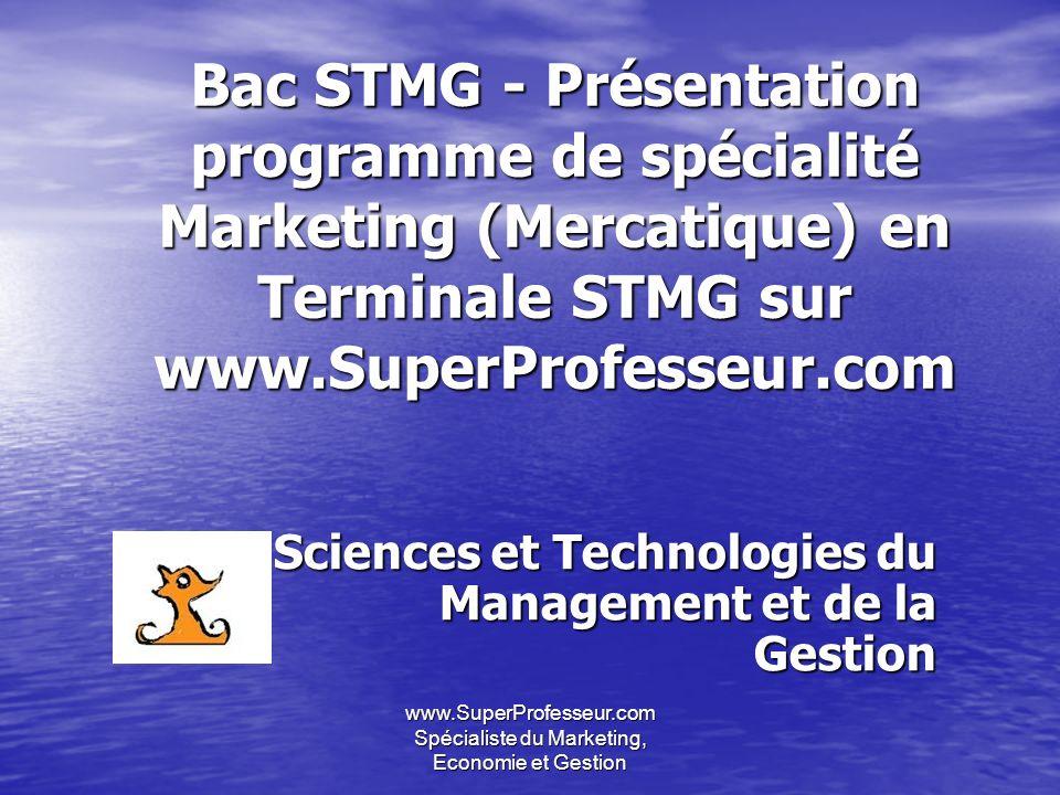 www.SuperProfesseur.com Economie et Gestion - bac STMG