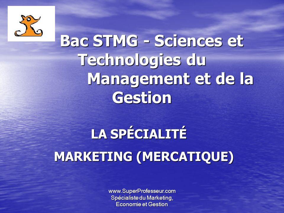 Bac STMG - Sciences et Technologies du Management et de la Gestion