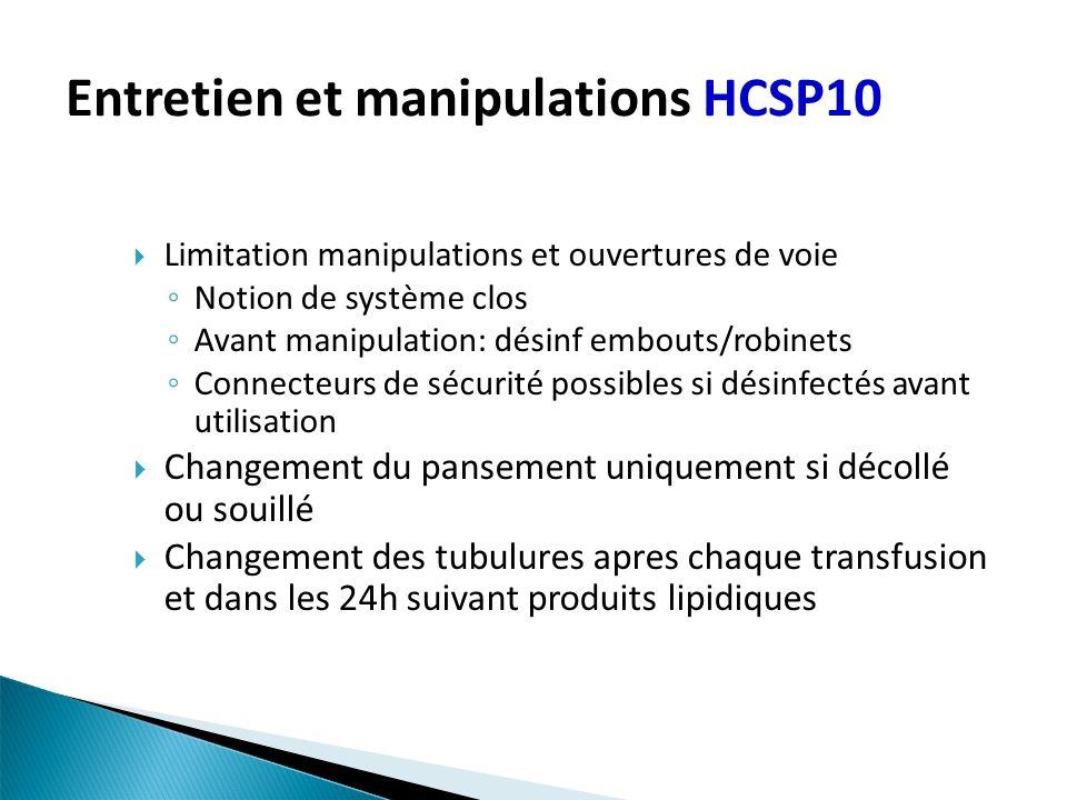 Entretien et manipulations HCSP10