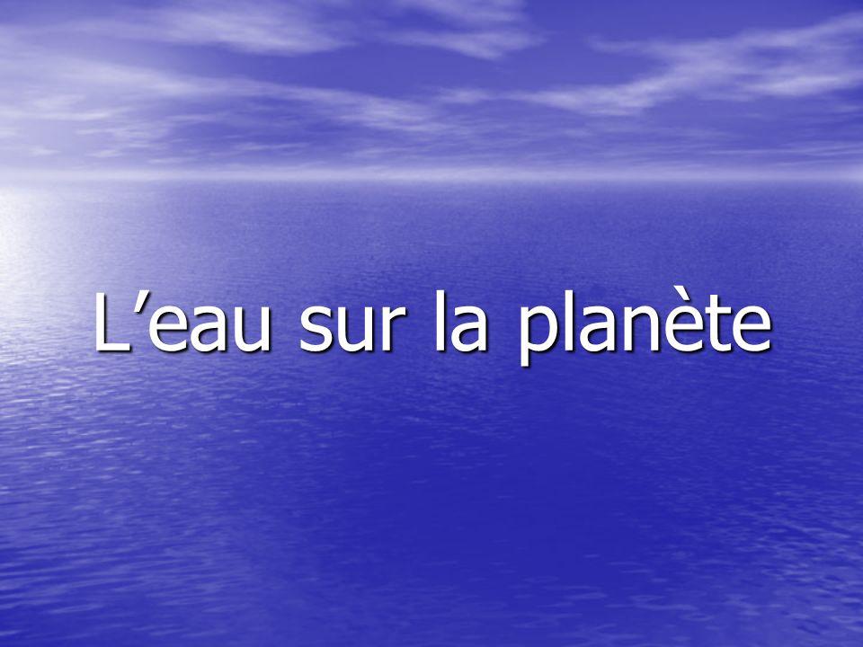 L'eau sur la planète