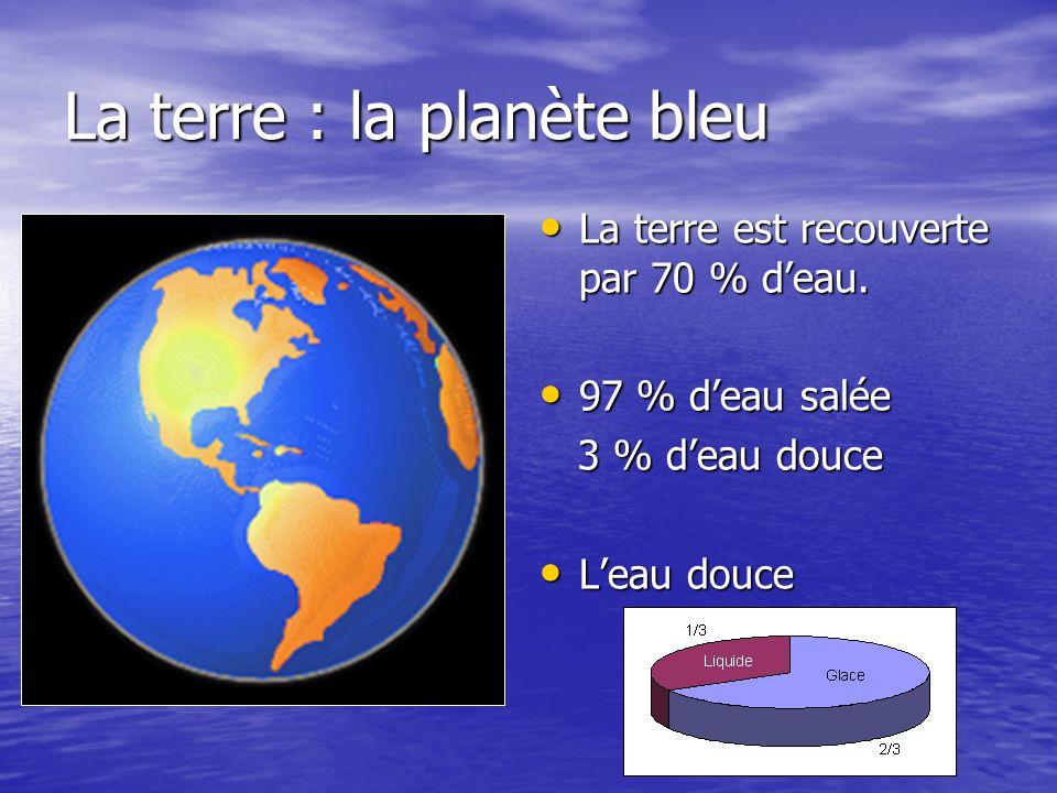 La terre : la planète bleu