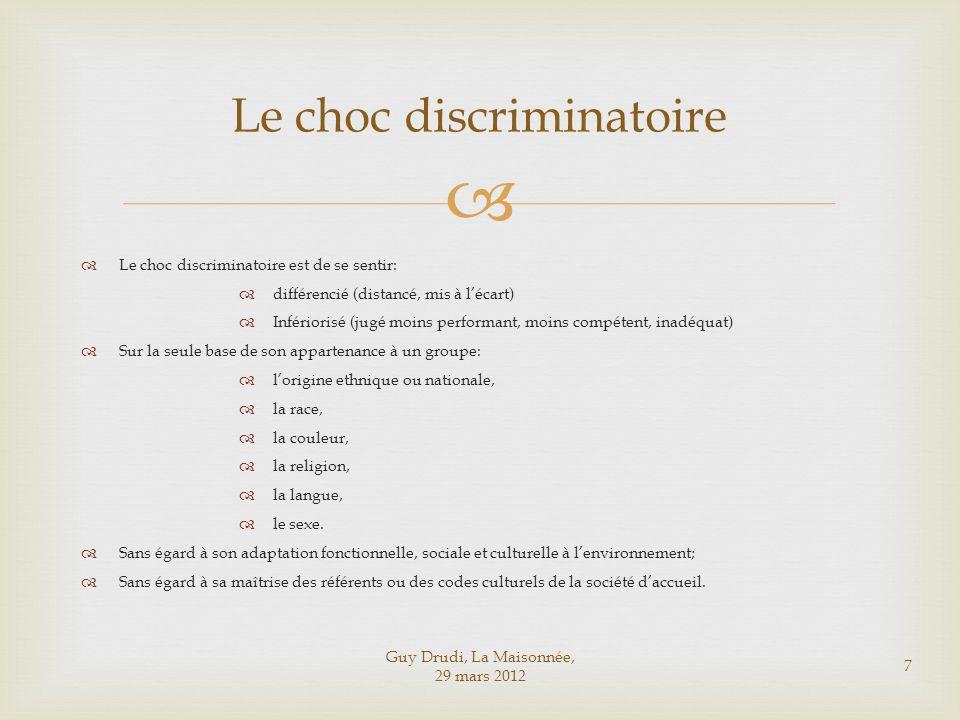 Le choc discriminatoire