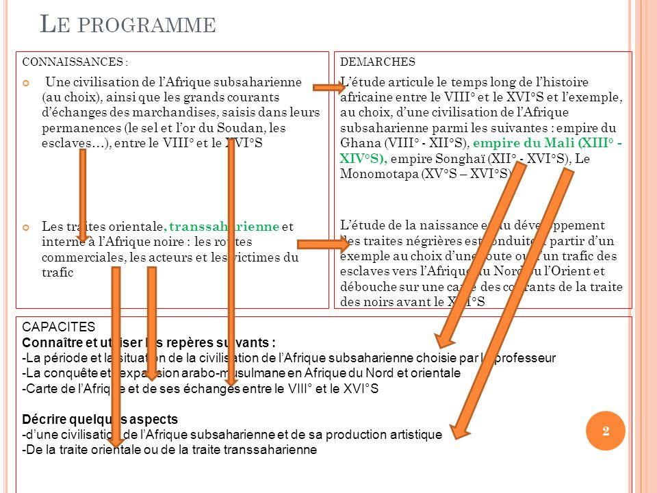 Le programme CONNAISSANCES :