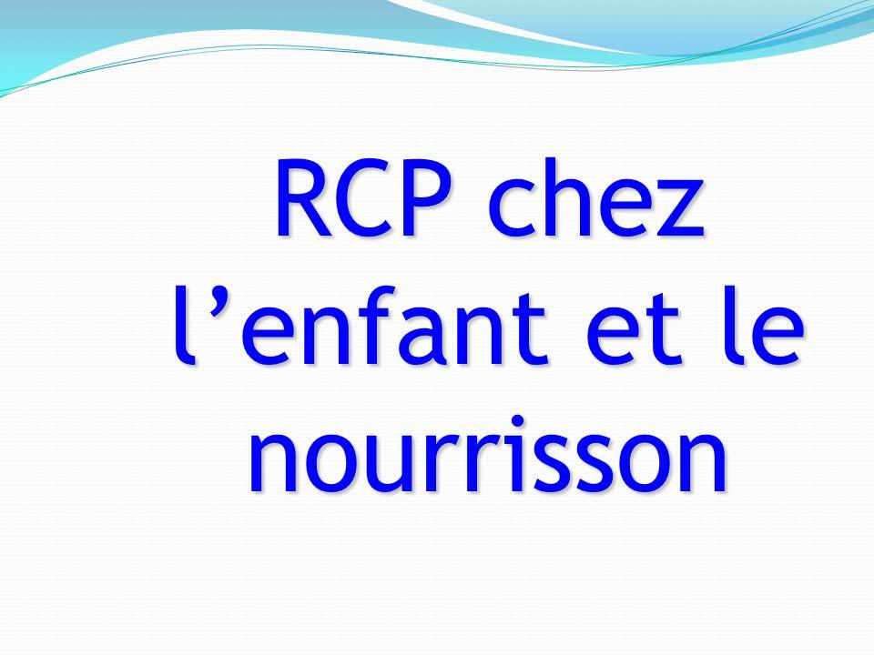 RCP chez l'enfant et le nourrisson