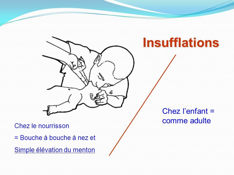 Insufflations Chez l'enfant = comme adulte Chez le nourrisson