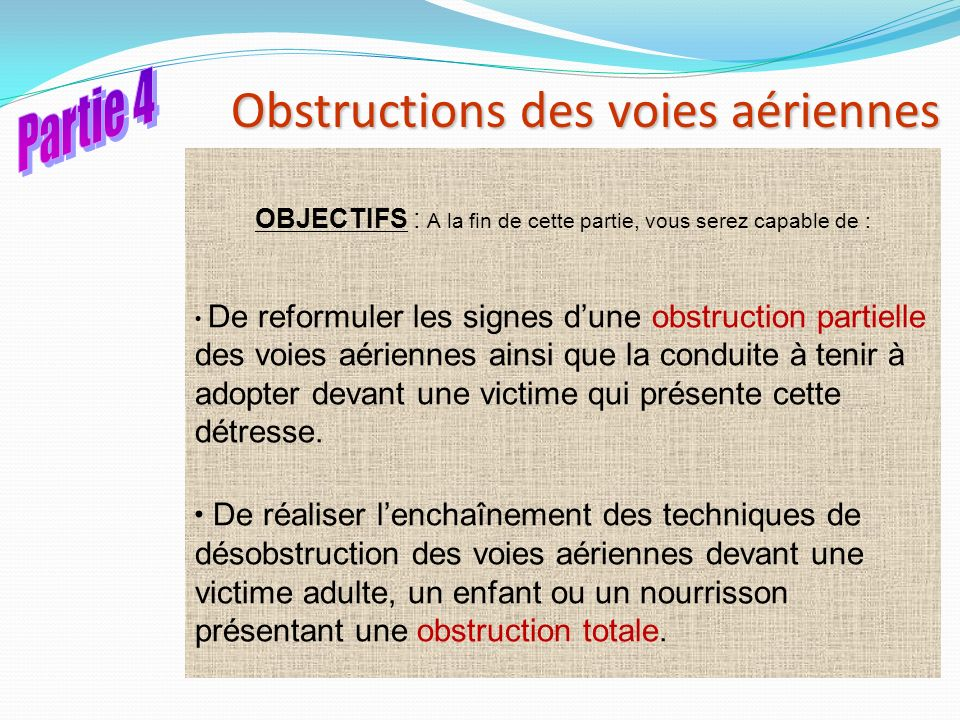 Obstructions des voies aériennes