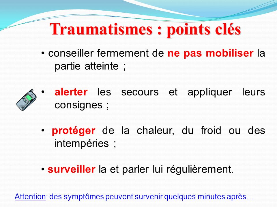Traumatismes : points clés