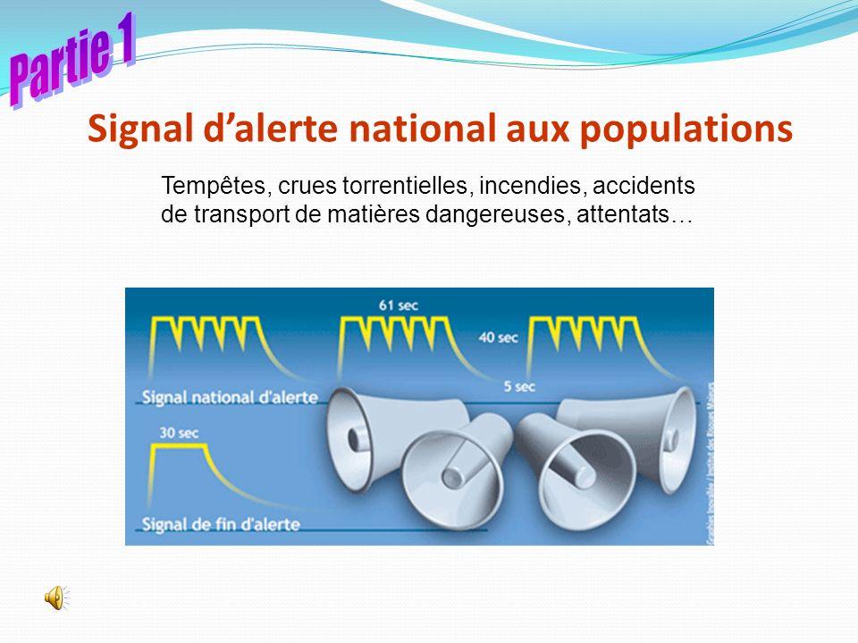 Signal d'alerte national aux populations