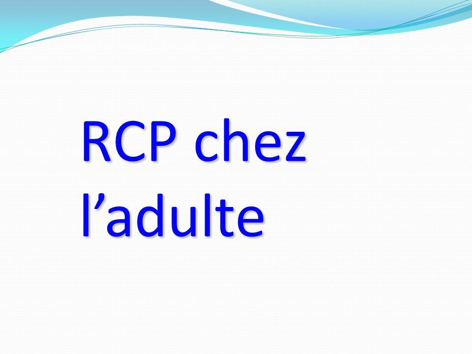 RCP chez l'adulte