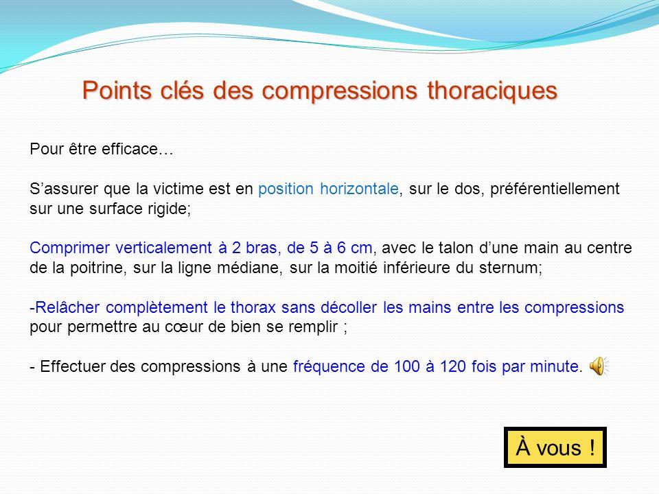 Points clés des compressions thoraciques