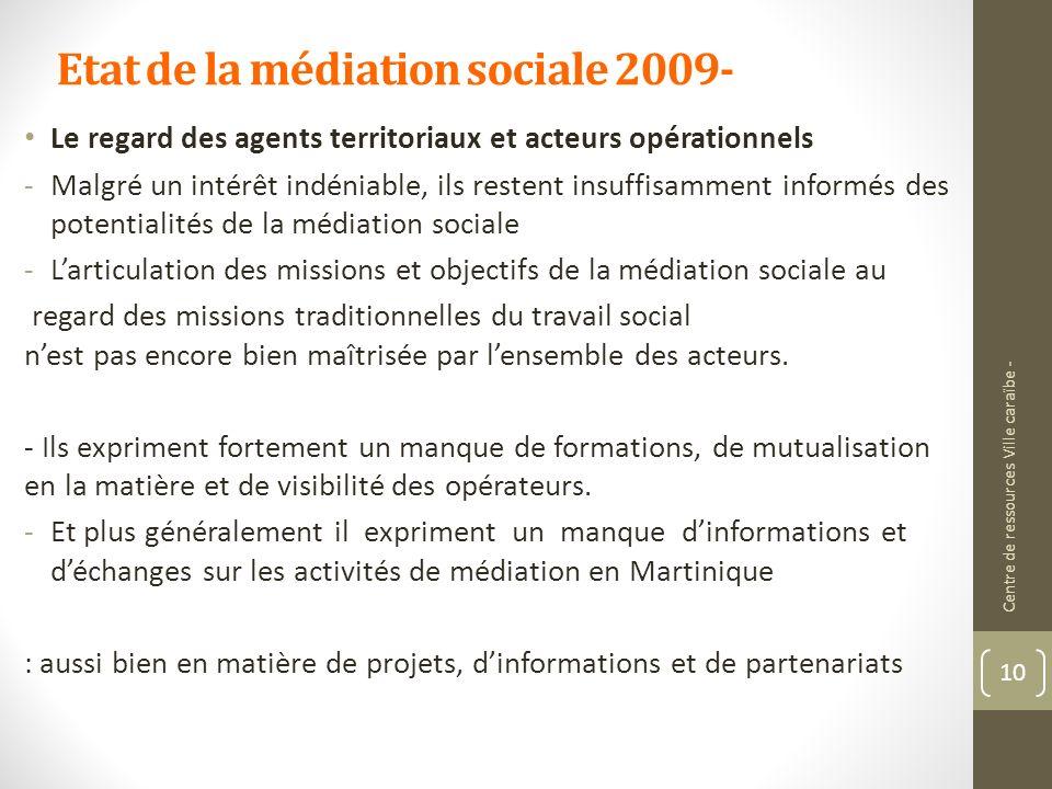Etat de la médiation sociale 2009-
