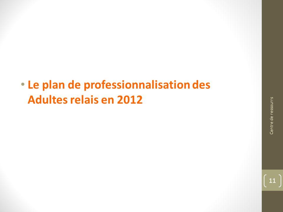 Le plan de professionnalisation des Adultes relais en 2012