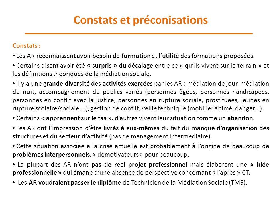 Constats et préconisations