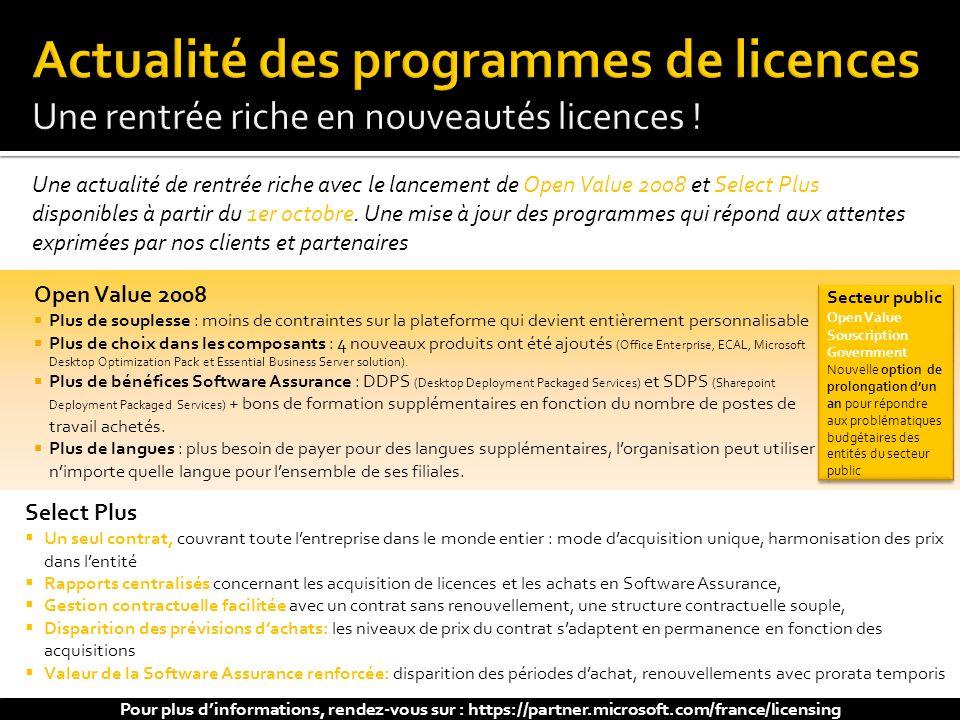 Actualité des programmes de licences Une rentrée riche en nouveautés licences !