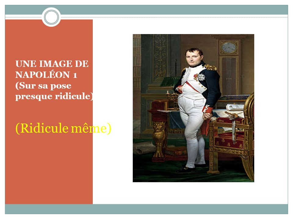 UNE IMAGE DE NAPOLÉON 1 (Sur sa pose presque ridicule)