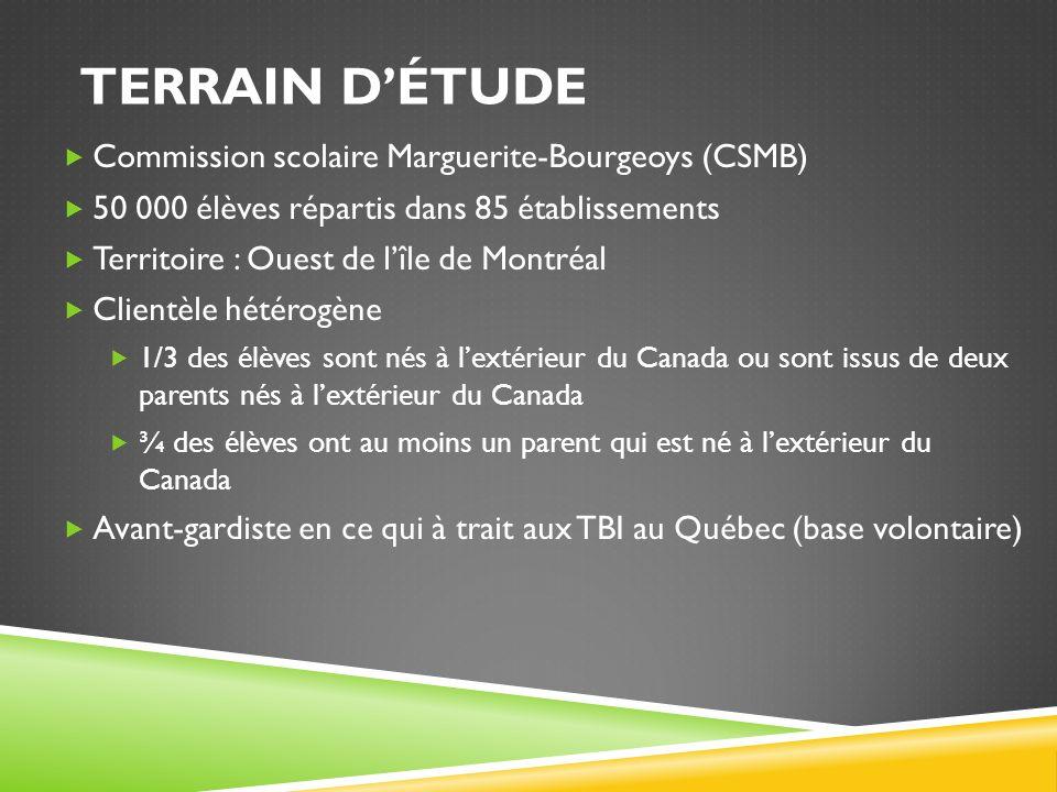Terrain d'étude Commission scolaire Marguerite-Bourgeoys (CSMB)