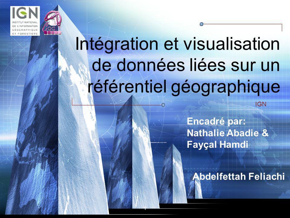 Intégration et visualisation de données liées sur un référentiel géographique