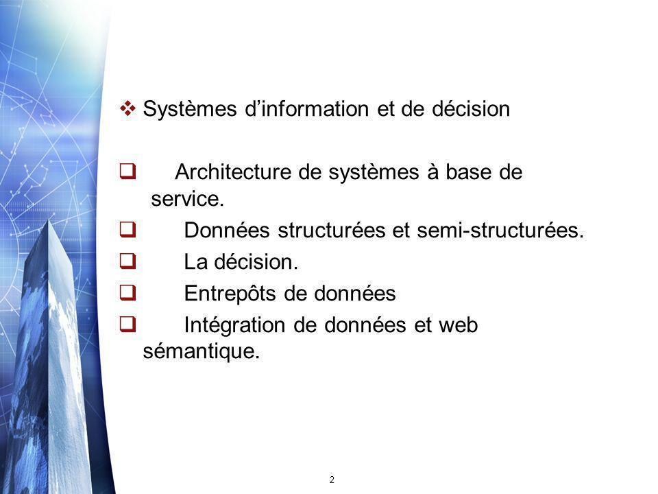 Systèmes d'information et de décision