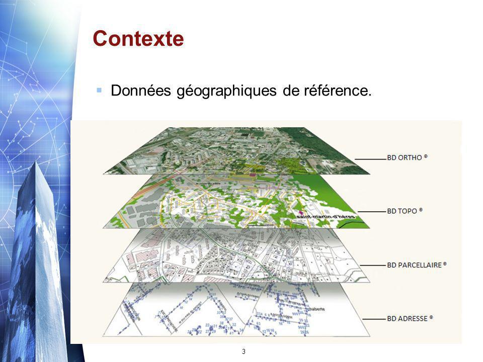 Contexte Données géographiques de référence.