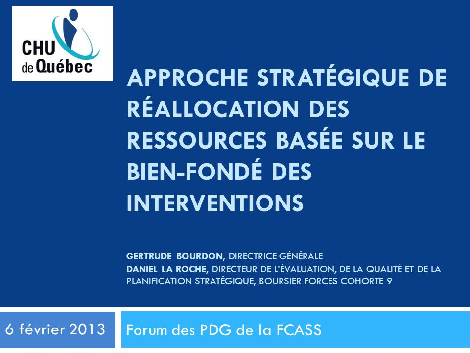Forum des PDG de la FCASS