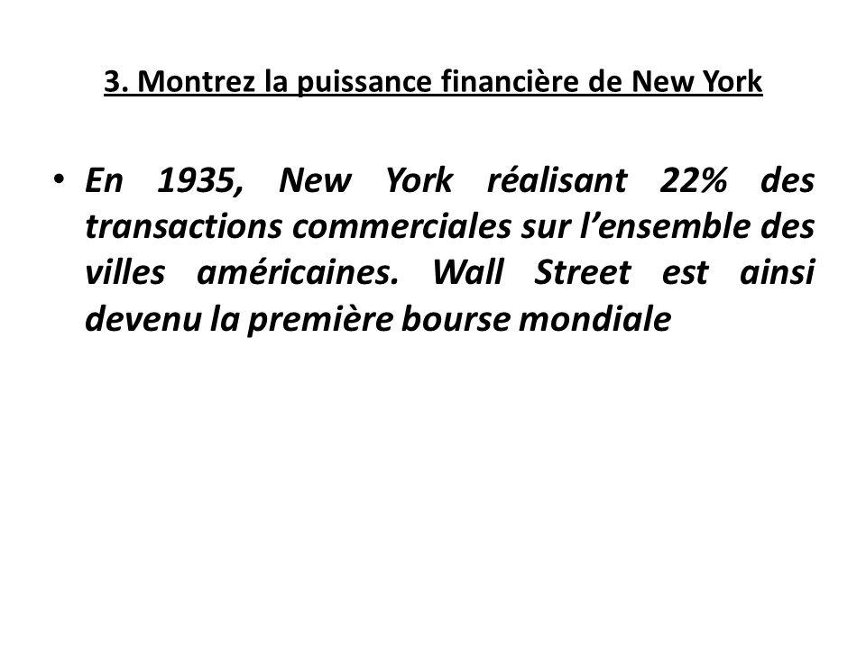 3. Montrez la puissance financière de New York