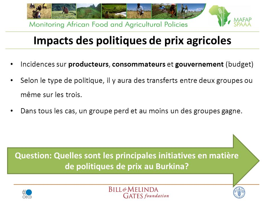 Impacts des politiques de prix agricoles