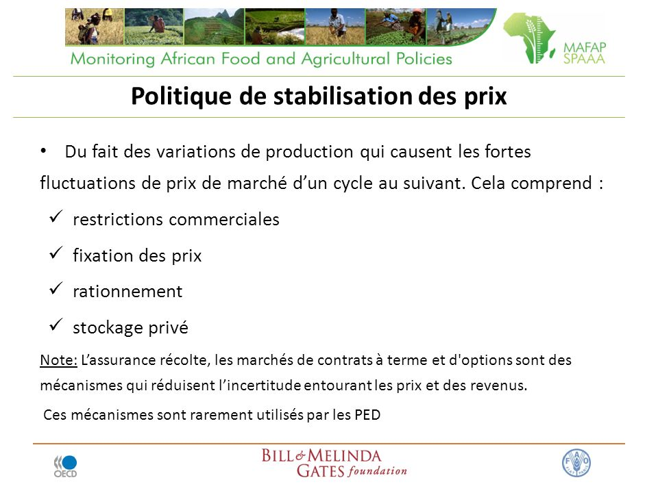 Politique de stabilisation des prix