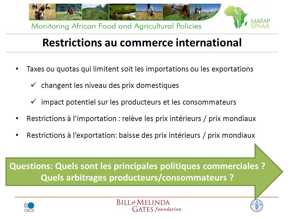 Restrictions au commerce international