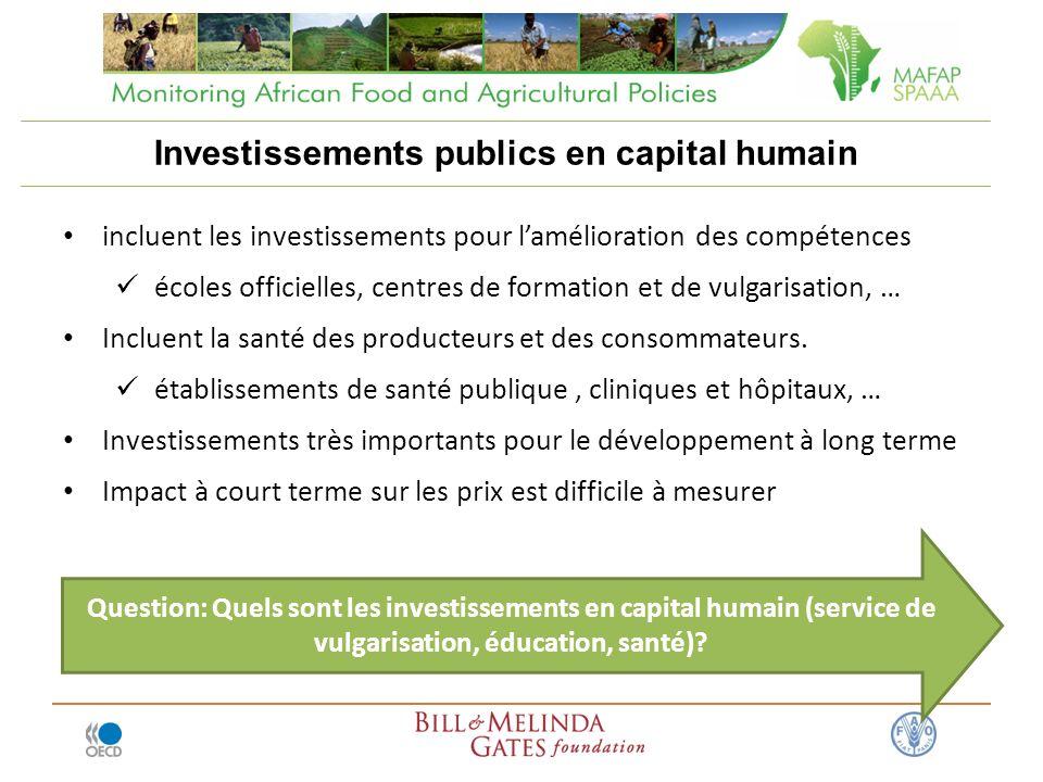 Investissements publics en capital humain