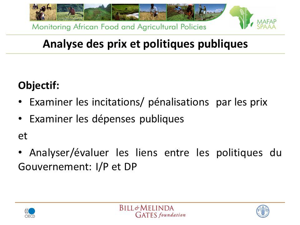 Analyse des prix et politiques publiques