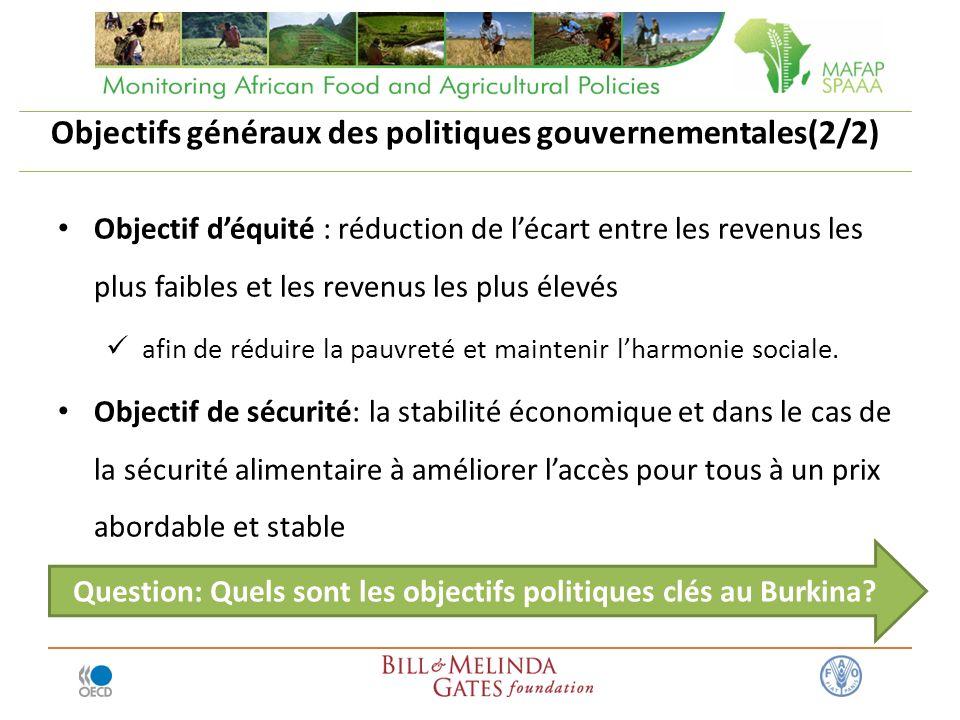 Objectifs généraux des politiques gouvernementales(2/2)