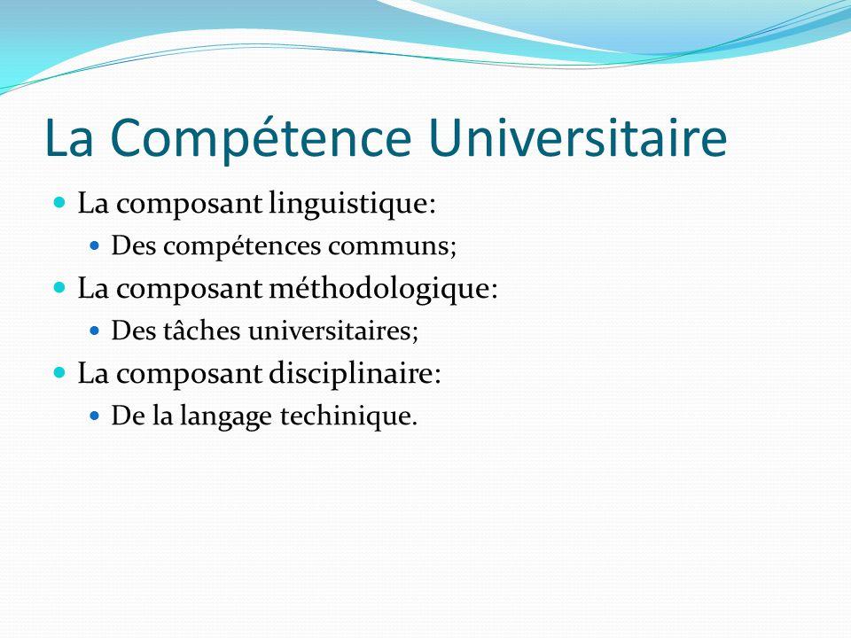 La Compétence Universitaire
