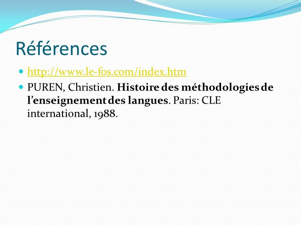 Références http://www.le-fos.com/index.htm