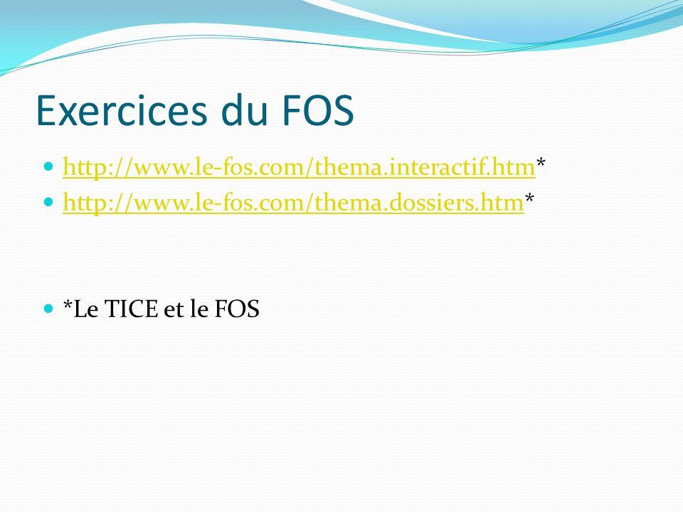 Exercices du FOS http://www.le-fos.com/thema.interactif.htm*