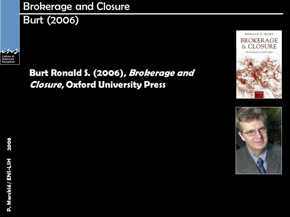 Brokerage and Closure Burt (2006)